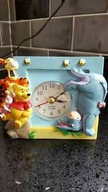 WINNIE THE POOH KIDS ALARM CLOCK WITH MATCHING HOME PHONE