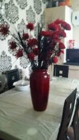 Dark red vase