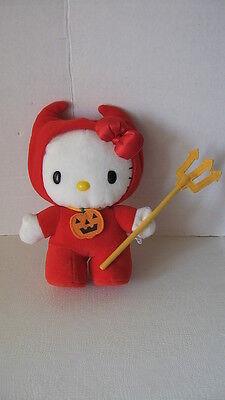 Sanrio Hello Kitty Plush Doll Halloween Devil Red Collectible Vintage '76-'82
