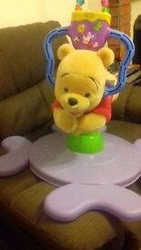 DISNEY Winnie the Pooh sit on bouncing rocking toy. Suitable 6mths - 30mths. Loads of fun.