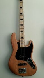 Bass Guitar Jazz Bass natural Ash wood stunning bass maple neck