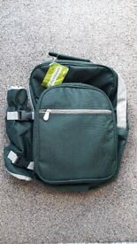 Forest Green picnic backpack hamper with all accessories (new)