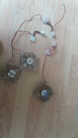 set of 3 led desktop fans