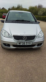 MERCEDEZ BENZ A CLASS 2008 LOW MILES 12 MTH MOT BLUE TOOTH,VERY VERY CLEAN INDEED