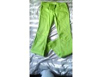 Green trousers