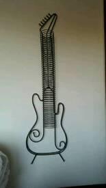 Guitar metal cd stand/holder very unusual