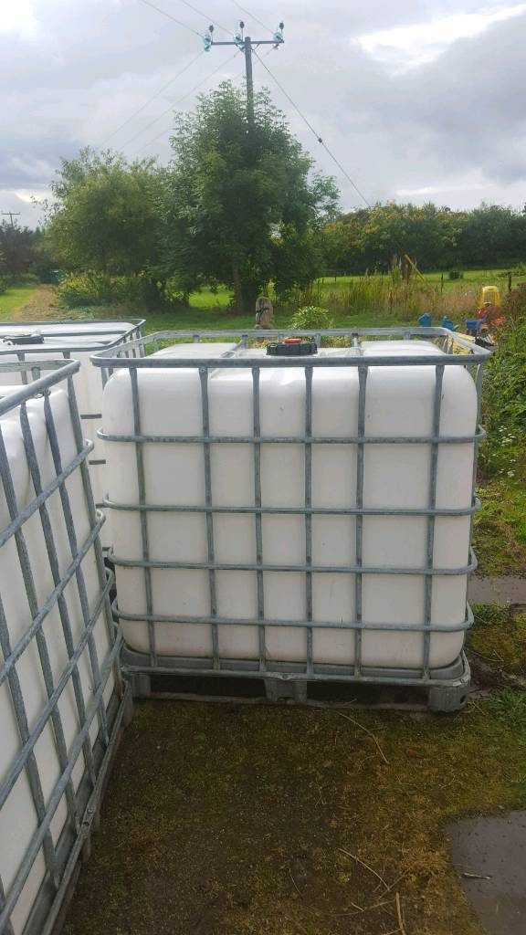 IBC WATER CONTAINERS X 2