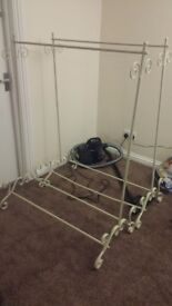 Two Vintage Clothes racks dy&dx