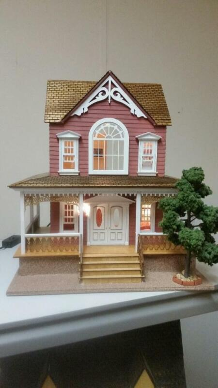 """1:24 SCALE (1/2"""") DOLLHOUSE KIT-LITTLE BRIANA COUNTRY COTTAGE NO SHINGLES-80071"""