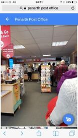 Retail space in a very busy post office Penarth
