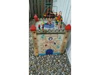Large unique outdoor childrens wooden castle