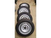 Transporter t5 near new steel wheels and tyres