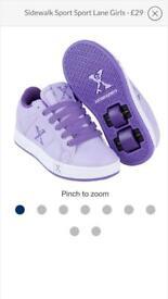 Girls roller shoes/heeleys