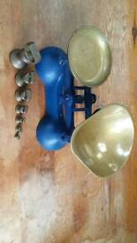 Traditional kitchen scales brass weights