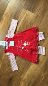 BNWT- Mummy's little dearVelour dress, top& leggings set