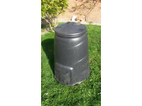 Compost Bin, Plastic, Large, Black (90cm high, 75cm diameter)