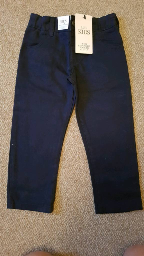 Marks and spencers Boys 2 pack trousers with tag