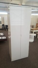 Julian Bowen Manhattan White High Gloss 2 Door Wardrobe Can Deliver