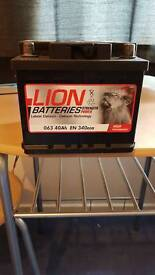 Lion car battery, 063, 1 years old