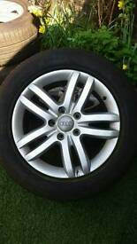 18' alloy wheels with tyres