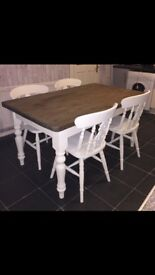 Farmhouse style table and 4 chairs