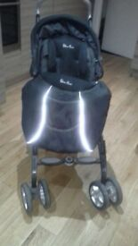 black silver cross pushchair