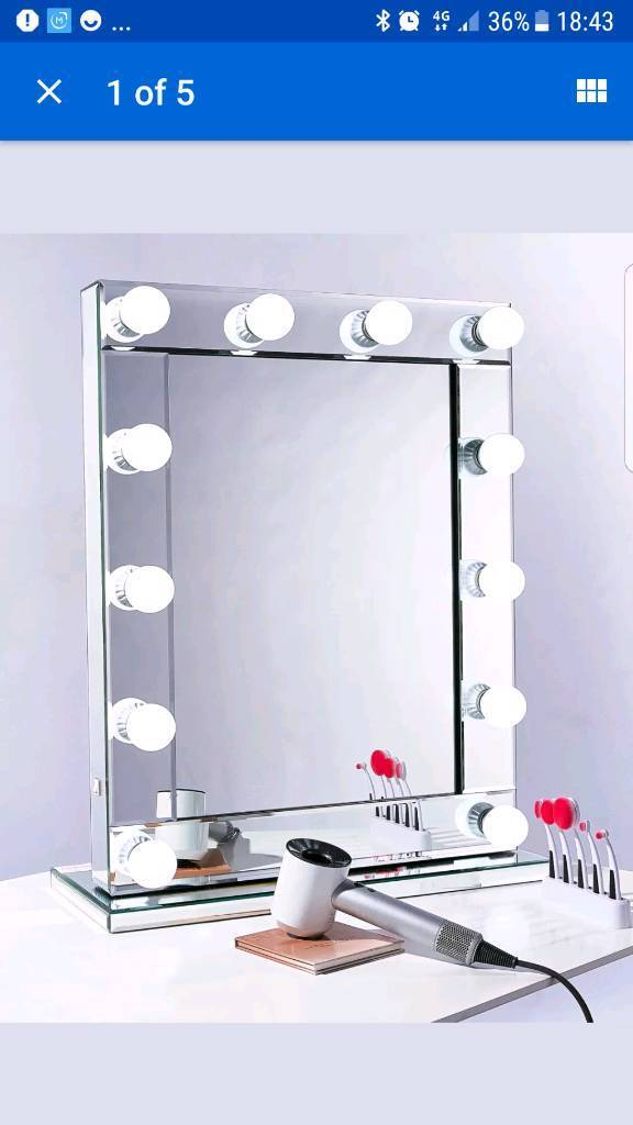 Niches Hollywood Led Vanity Mirror Dressing Table Makeup