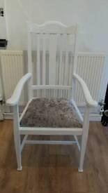 2x Shabby chic/crushed velvet chairs