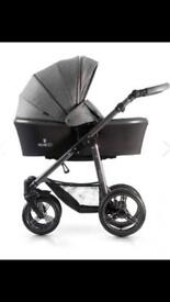 Venicci pram and carry cot for sale with raincovers