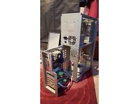 Full Tower ATX PC Server Case, EATX, with retractable stability legs, pull-out motherboard tray