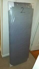 Grey double headboard