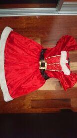 Girls Christmas Santa dress 3-4 years