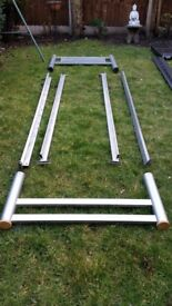 Single bed frame, silver