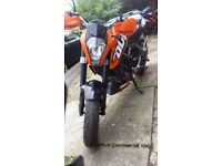 2015 KTM Duke 125 p/x for a small car