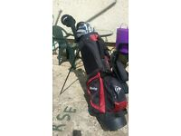 2 SETS OF GOLF CLUBS AND BAGS
