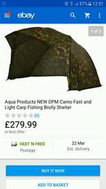 Aqua fast and light with ground sheet and storm poles plus rib protectors. All brandnew.