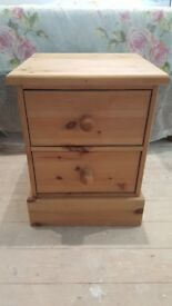 Small bedside cupboard solid pine