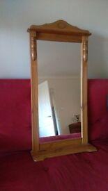 Pine Mirror with shelf