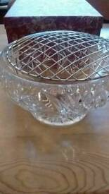 Cut glass bowl