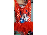 Minnie mouse tutu swimming costume age 6-7