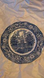 "Vintage ""Liberty Blue"" plate"