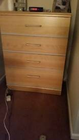 4 drawer chest and 2 matching bedside chests