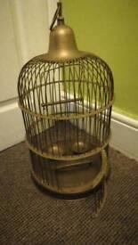 COPPER ANTIQUE BIRD CAGE!