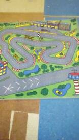 Child's road play mat.