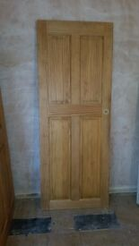 Indoor solid pine wood doors - will sell separately or together