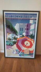 'Art Deco Weekend' large framed poster