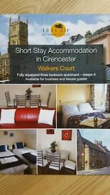 Accommodation for Contractors * Cirencester * 3 Bedrooms 4 Beds * Free Wifi * Linen & Towels