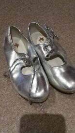 Girls silver tap shoes size 11