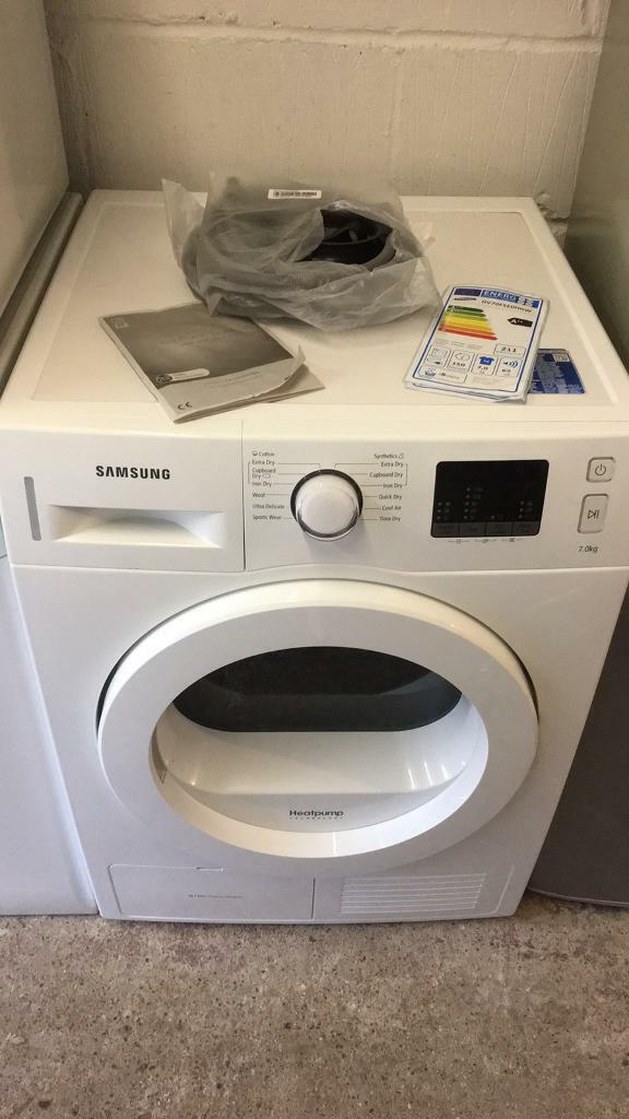 Samsung 7kg Condender Tumble Dryer Heat Pump Technology Like New145 Sittingbournein Sittingbourne, KentGumtree - White 7kg Condenser Tumble Dryer Sumsung Heat Pump Technology for ultimate energy saving Excellent As New Condition just 2 months oldCurrently still for sale for around £500Just £150 the buyer will not be disappointed Can be seen working upon...