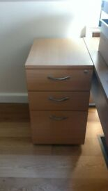 Office draws, High Mobile Pedestal unit - Beech colour